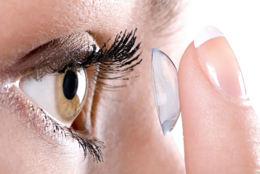 contact lens solution and clean hands